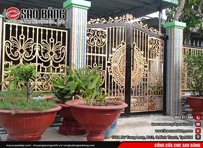Mẫu cửa cổng sắt 2 cánh đẹp nhất