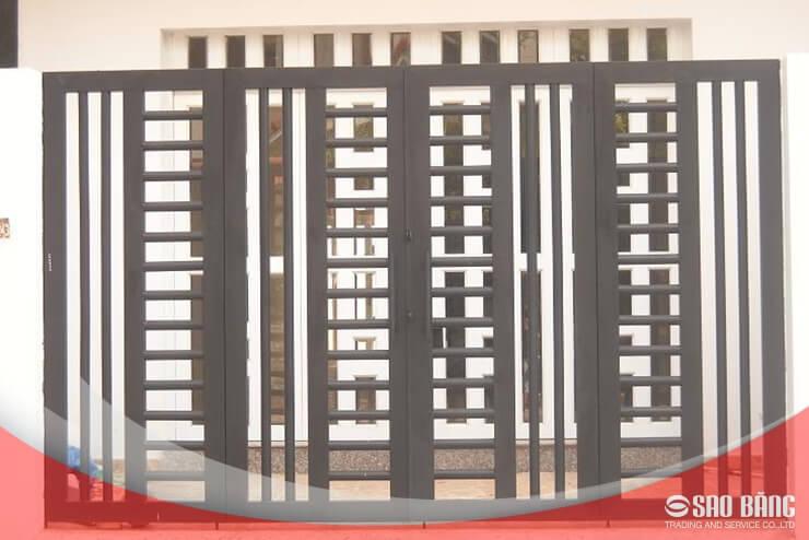 Mẫu Cổng Sắt 4 Cánh Biệt Thự Đơn GiảnMẫu Cổng Sắt 4 Cánh Biệt Thự Đơn Giản