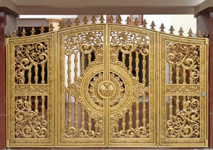 Những Mẫu Cổng Cửa Đúc 4 Cánh Đẹp, Sang Trọng Cho Biệt Thự