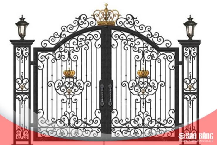 Mẫu Cổng Sắt 2 Cánh Biệt Thự Hiện Đại
