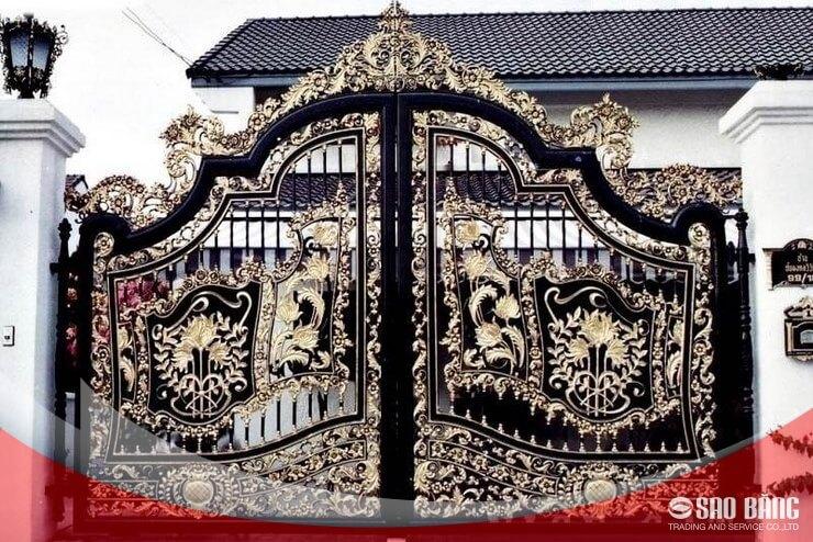 Mẫu Cổng Sắt 2 Cánh Biệt Thự Nghệ Thuật