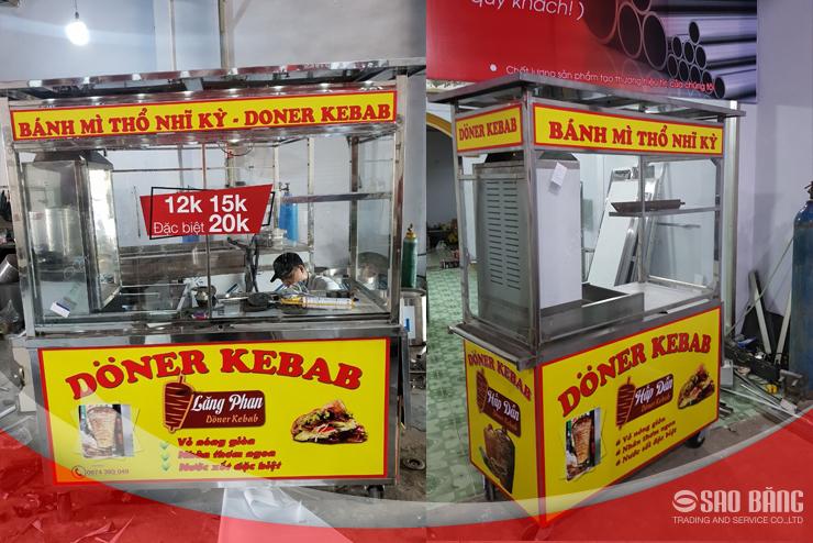 Sao Băng miễn phí thiết kế decal, tạo hình ảnh thương hiệu khi mua xe bánh mì Thổ Nhĩ Kỳ